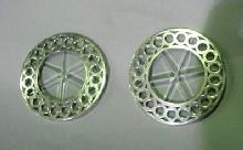 Coasters Sterling SILVER Cut glass OVERLAY pair