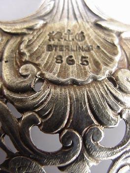 Bonboniere Gorham Medallion Cast Sterling Silver