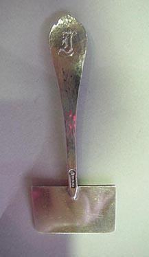 Hammered Unger Cheese Knife Sterling Silver