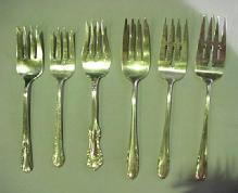 selection of Meat Forks Sterling Silver