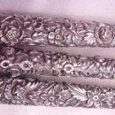 Repousse Carving Set Old hollow handles Kirk