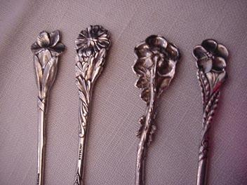 Floral demitasse spoons Reed & Barton Sterling Silver