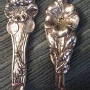Floral Sterling Demitasse spoons