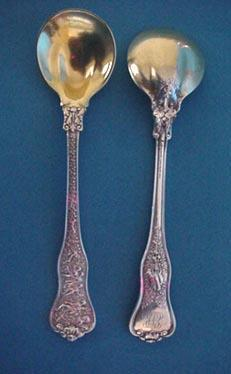 Olympian Tiffany Ice Cream Spoons Sterling