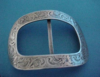 Buckle William Kerr engraved Sterling Silver