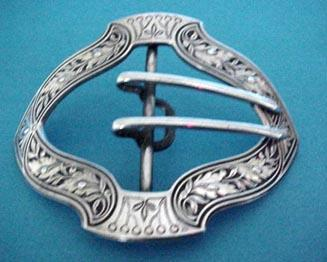 Buckle William Kerr Sterling  Leaf design