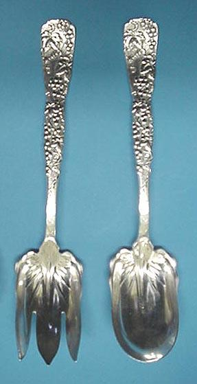 Vine Tiffany Salad Set Long Handled Sterling