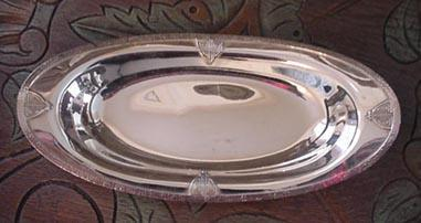 Arts & Crafts Sheffield Bread Tray Silverplate