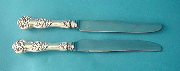 Queens Birks Knives Sterling Silver