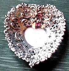 Heart Dish Gorham Pierced Sterling Silver