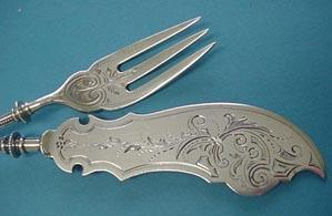 Gothic George Sharp Pickle Fork and knife -set