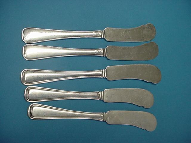 Old French Butter knives Gorham Sterling Silver
