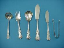 Cambridge Gorham large master Butter Knife, floral Sterling Silver