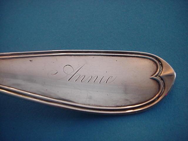James Watts Philadelphia Soup Ladle Coin Silver