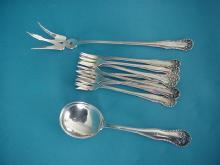 Lancaster Rose Gorham Sterling silver seafood fork