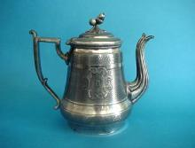Teapot silverplate Acorn  finial