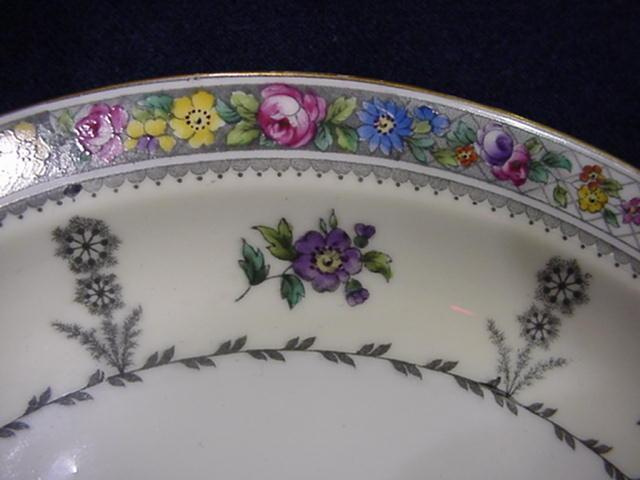 Plates, Cauldon for Tiffany, floral dessert