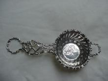 Tea Strainer Ornate Gorham Sterling Silver