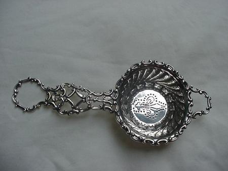 Tea Strainer Ornate Gorham Sterling Silver