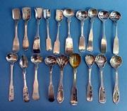 Master Salt Spoons coin silver