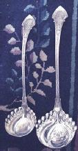 ANGELO Wood & Hughes sterling silver largest SOUP LADLE