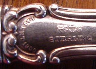 Cromwell Gorham Co serrated  cake saw sterling