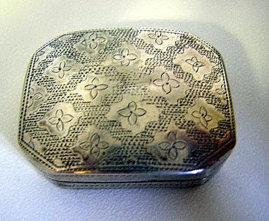 Vinaigrette Sterling silver Box Birmingham 1806