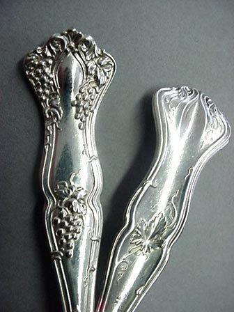 Vintage silverplate  2 salad forks  grapes