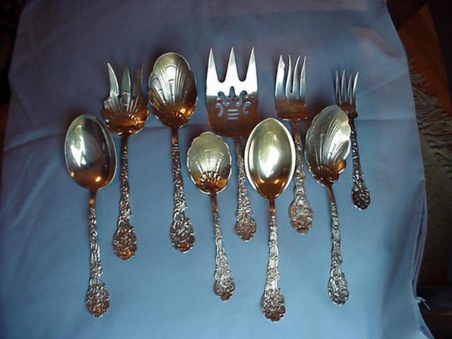 Versailles Figural Large set of Servers most copyrighted Gorham Sterling Silver