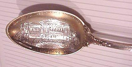 Eliza Fowler Hall Purdue Souvenir spoon Towle Georgian Sterling silver Indiana