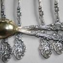 Versailles citrus grapefruit spoons 6 Gorham sterling silver gold washed