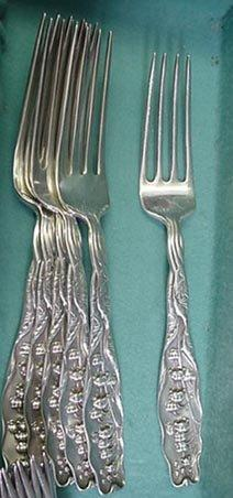 Lily of the Valley forks 12 Whiting Sterling silver Floral