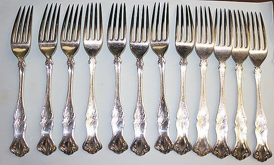 Vintage Dinner Forks 12 Rogers Bros. Grape design