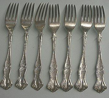 Vintage Lunch  Forks 7 Rogers Bros. Grape design