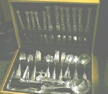 Vintage Lunch knives 7 Rogers Bros. Grape design