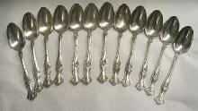 Vintage Oval Soup Spoons 12 Rogers Bros. Grape design