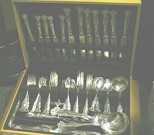 Vintage salad forks Rogers Bros. silverplate  grapes