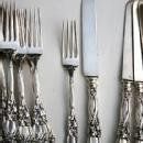 Iris knives and forks Durgin sterling silver