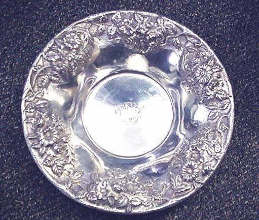 Repousse Bowl Sterling Silver S.Kirk & Sons,