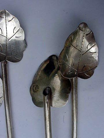 Sippers leaf-shaped bowls 8 sterling silver great for lemonade