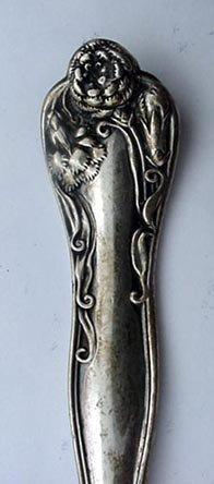Stratford Pickle  Fork Carnation Sterling silver Long handle Floral