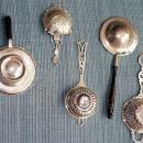 Tea Strainer Sterling silver bowl wooden handle