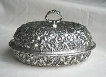 Repousse covered Tureen Sterling silver Jenkins & Jenkins Inc.