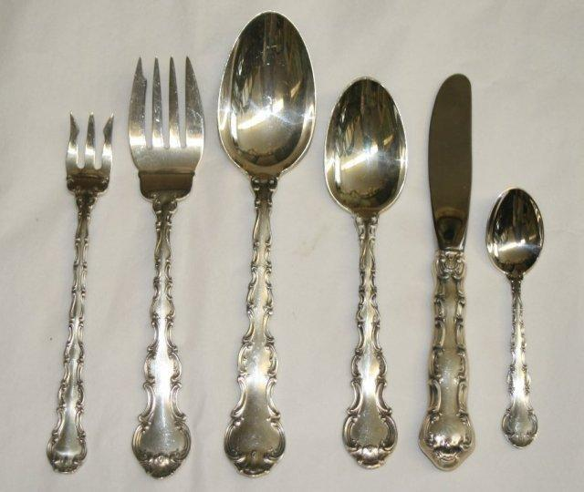 Strasbourg oval soup spoons  8 Gorham Sterling Silver Flatware