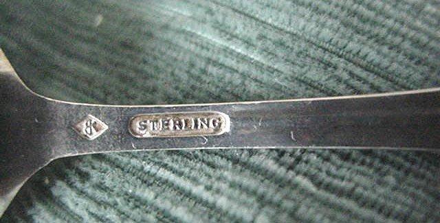 St. Petersburg Pelican figural  pierced Souvenir Spoon Sterling Silver