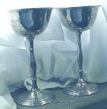 Wines sterling silver  Deco pair