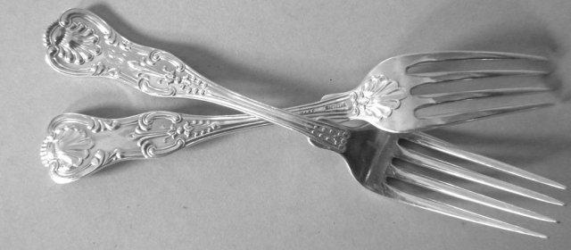 English King Forks Sterling JE Caldwell dozen
