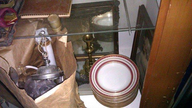 Soup Bowls german porcelain red gold dozen