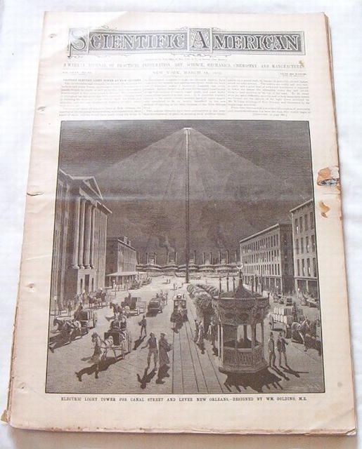 Scientific Amer.3/1882 New Orleans Electric Light Tower