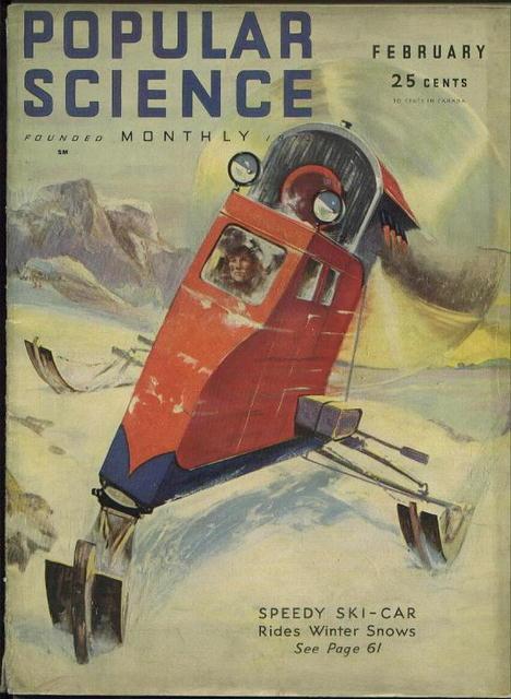 Popular Science Mag, Speedy ski car, 2/1932